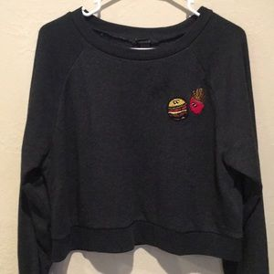 Grey cropped Forever 21 sweater